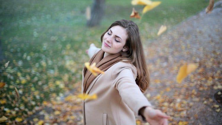 woman full of joy