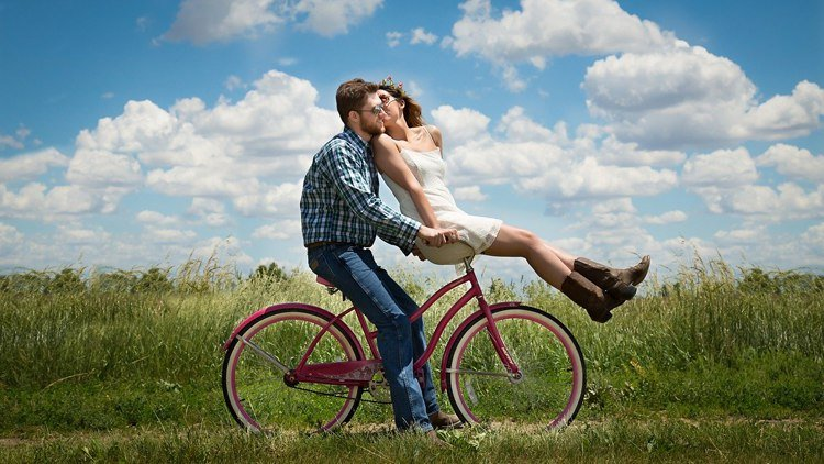 couple on a bike, bring harmony to relationship