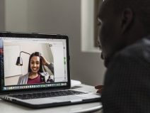 video chat, virtual dinner party